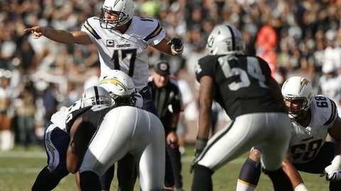 October 15: Los Angeles Chargers at Oakland Raiders, 4:25 p.m. ET