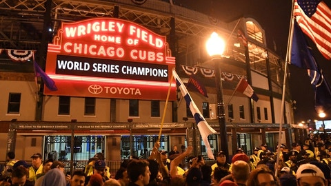 The Cubs win two titles in 109 years