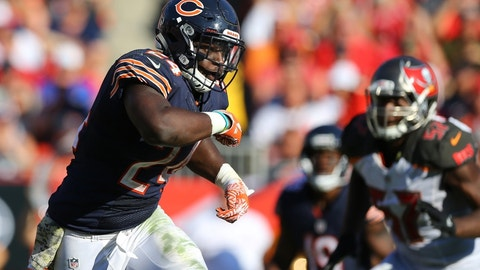 Jordan Howard, RB, Bears (3rd last week)