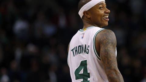 Isaiah Thomas putting the Celtics on his back