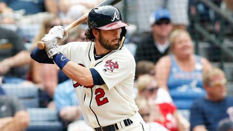 Sep 17, 2016; Atlanta, GA, USA; Atlanta Braves shortstop Dansby Swanson (2) bats against the Washington Nationals in the seventh inning at Turner Field. Mandatory Credit: Brett Davis-USA TODAY Sports