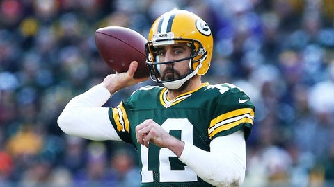 GREEN BAY, WI - DECEMBER 24:  Aaron Rodgers #12 of the Green Bay Packers throws a pass in the second quarter against the Minnesota Vikings at Lambeau Field on December 24, 2016 in Green Bay, Wisconsin. (Photo by Dylan Buell/Getty Images)