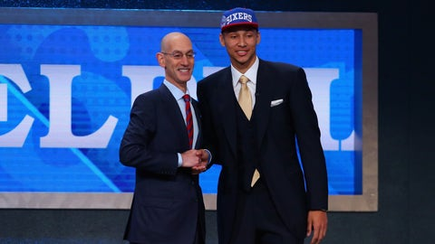 The Sixers selected Ben Simmons with the No. 1 pick in the NBA Draft, but he has yet to play this season due to injury