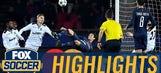 Cavani scores bicycle kick goal against Ludogorets | 2016-17 UEFA Champions League Highlights