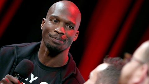 """HOLLYWOOD, CALIFORNIA - MARCH 29:  Former NFL player Chad """"Ochocinco"""" Johnson attends as athletes and YouTube stars team for DOOM Videogame Tournament at Siren Studios on March 29, 2016 in Hollywood, California.  (Photo by Jonathan Leibson/Getty Images for Bethesda Softworks)"""