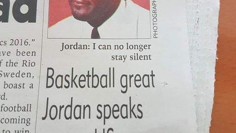 Malawian newspaper runs Crying Jordan in serious article