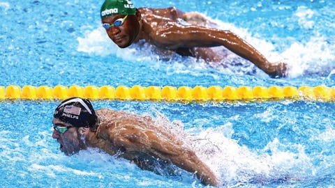 Michael Phelps makes Chad Le Clos Chad Le Cry