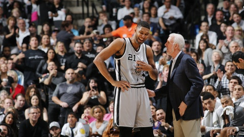 Only Gregg Popovich could make the always-stoic Tim Duncan laugh like this in his final NBA season