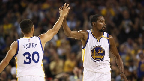Stephen Curry and Kevin Durant on the same team still doesn't look right
