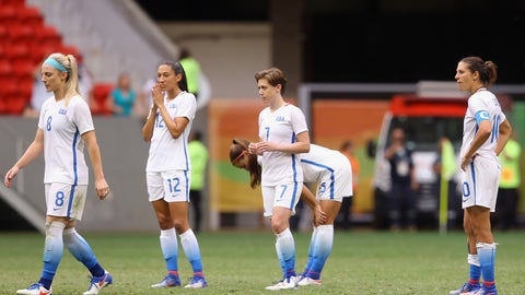 USWNT upset in the quarterfinals of the Olympics