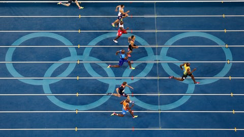 Olympic track, men's 100m dash