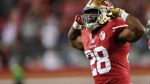 Carlos Hyde, RB, San Francisco 49ers
