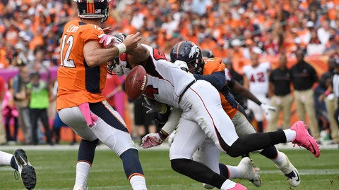 Falcons DE Vic Beasley breaks out with 3.5 sacks and 2 forced fumbles against Denver