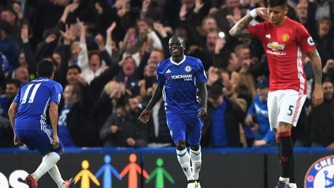 Center midfield: N'Golo Kante, Chelsea (and Leicester)