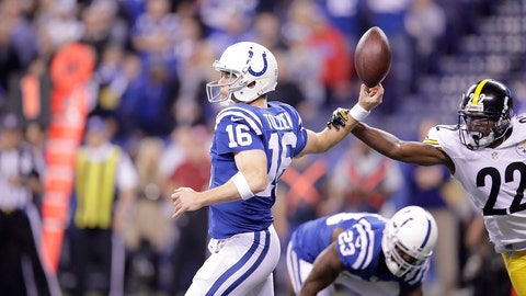 Colts backup QB Scott Tolzien, a split-second before realizing he's missing something