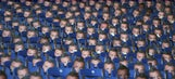 Leicester gave out masks of Jamie Vardy to protest his suspension and it was super creepy