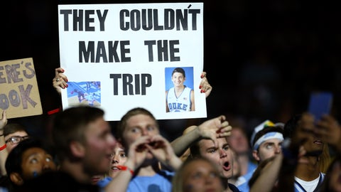 Duke villain Grayson Allen is going to be seeing even more signs now like this one from March