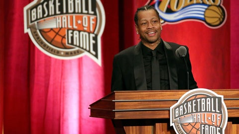 Allen Iverson wore a suit to his Hall of Fame enshrinement ceremony