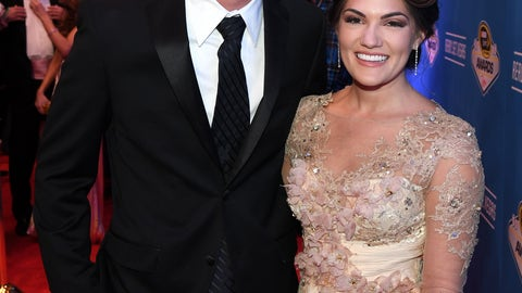 Joey Logano and wife, Brittany
