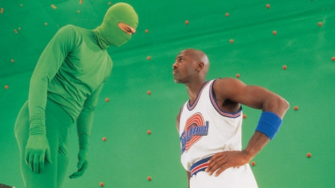 Jordan filmed a lot of his scenes in front of a green screen