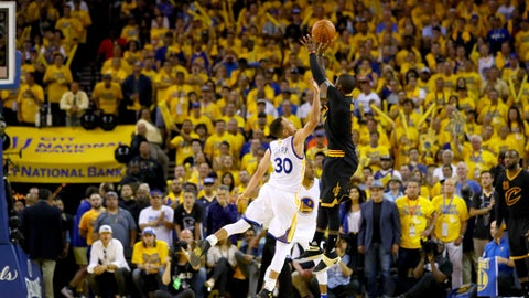 Kyrie Irving's dagger three over Stephen Curry in Game 7 of the NBA Finals