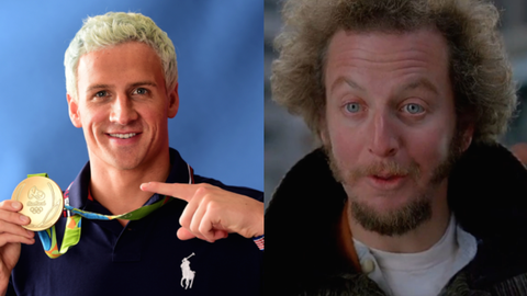 "Ryan Lochte and Marv from ""Home Alone"""