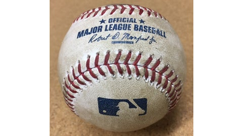 Nick Ahmed double ball from D-backs Auctions