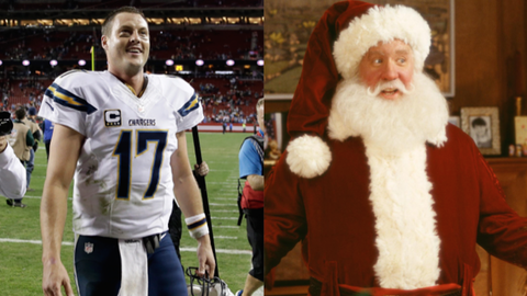 "Philip Rivers and Scott Calvin from ""The Santa Clause"""