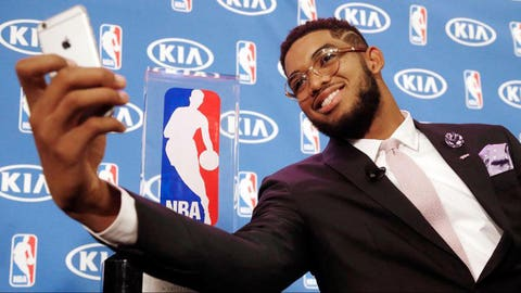 9. Karl-Anthony Towns unanimously wins Rookie of the Year Award