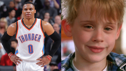 "Russell Westbrook and Kevin from ""Home Alone"""