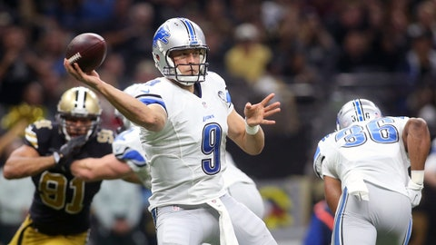 Detroit Lions (8-4): A turnover-riddled game from Matthew Stafford