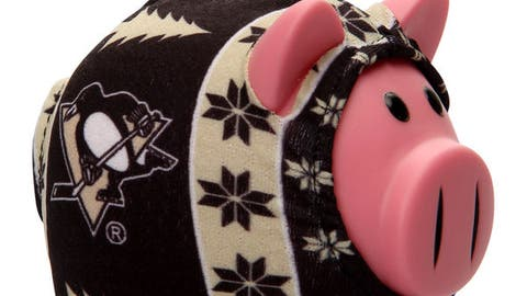 "Pittsburgh Penguins ""Sweater Pig"" Ornament"