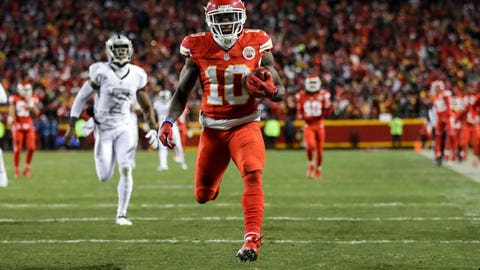 Punt returner: Tyreek Hill, Kansas City Chiefs