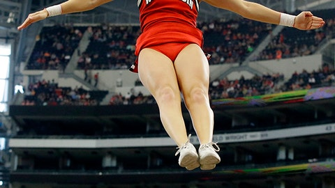 Wisconsin cheerleader