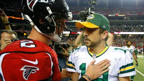 Matt Ryan and Aaron Rodgers are both MVP candidates