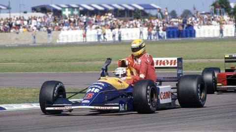 Mansell and Senna