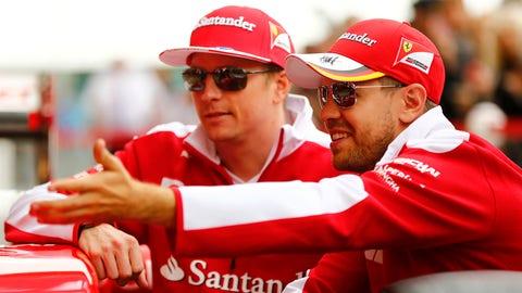 Ferrari - Kimi Raikkonen and Sebastian Vettel