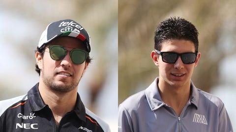 Force India - Sergio Perez and Esteban Ocon