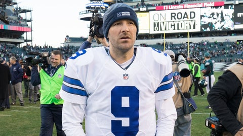 Which roster will Tony Romo be on for the first game of the 2017 NFL season?