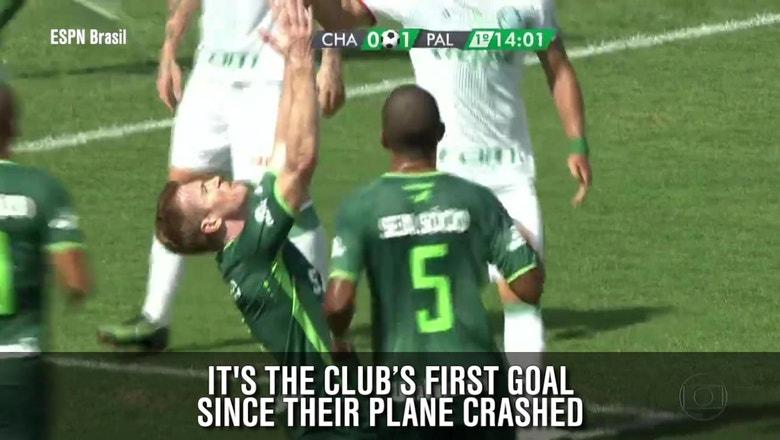 Chapecoense score an emotional goal