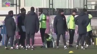 Neymar and Suarez pranks Pique