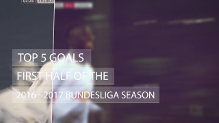 Top 5 Goals in 2016 - 2017 Bundesliga season so far