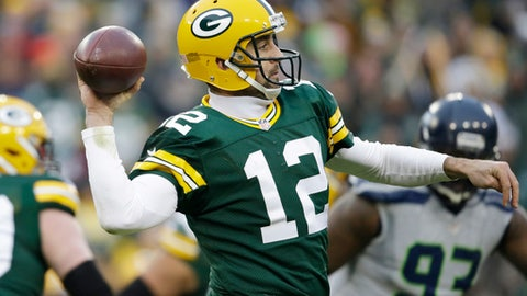 Green Bay Packers -- Aaron Rodgers, QB