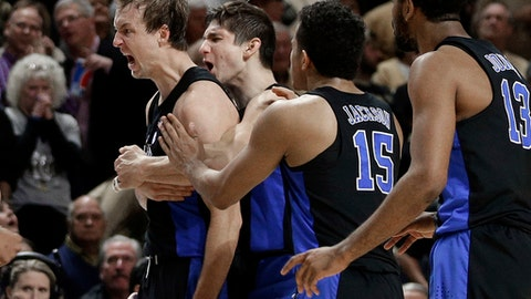 Kennard's late 3 lifts No. 17 Duke past Wake Forest 85-83