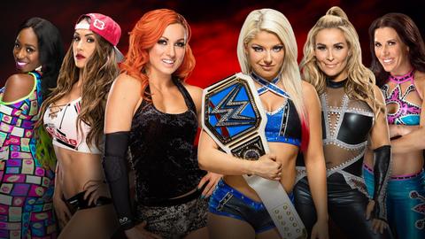 Kickoff show: Becky Lynch, Naomi and Nikki Bella vs. Alexa Bliss, Natalya and Mickie James in a 6-woman tag team match