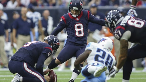 October 1: Tennessee Titans at Houston Texans, 1 p.m. ET