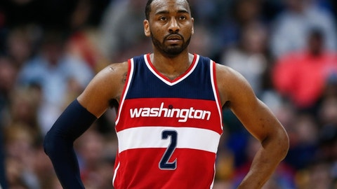 Mar 12, 2016; Denver, CO, USA; Washington Wizards guard John Wall (2) in the fourth quarter against the Denver Nuggets at the Pepsi Center. Mandatory Credit: Isaiah J. Downing-USA TODAY Sports