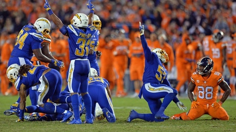 October 22: Denver Broncos at Los Angeles Chargers, 4:25 p.m. ET
