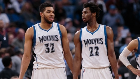 Who will average more points - Karl-Anthony Towns or Andrew Wiggins?