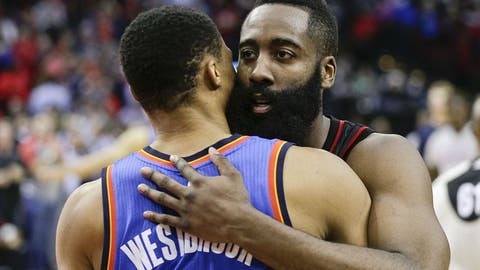 Harden's triple-double helps Rockets top Cavs 117-112